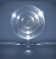 realistic glass spheres vector image