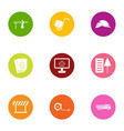 reconstruction icons set flat style vector image vector image