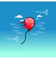 red balloon on sky vector image