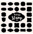 set black vintage stamp blank frame vector image vector image
