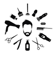 Set of Barber tools for men vector image vector image