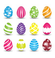 Set of easter egg icons vector image vector image