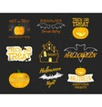 Set Of Vintage Happy Halloween Badges Labels vector image vector image