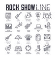 set rock show musical instruments thin line vector image vector image