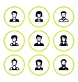 Set round icons of people vector image vector image