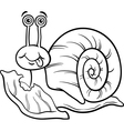 snail and lettuce coloring page vector image vector image