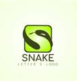 snake logo template design vector image vector image