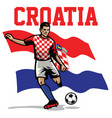 soccer player of croatia vector image vector image