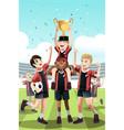 soccer team winning vector image