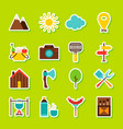 summer camping stickers vector image vector image