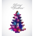 tree pine happy merry christmas vector image