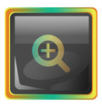 zoomin grey icon with colorful details on white vector image vector image