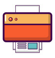 printer icon cartoon style vector image