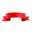 abstract red ribbon template on white background vector image