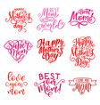 mother day holiday greeting text icons vector image