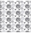 rustic roses and hearts background icon vector image
