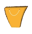 yellow bag gift shopping papper sketch vector image