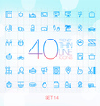 40 Trendy Thin Icons for web and mobile Set 14 vector image