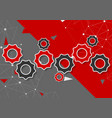 abstract red and grey concept technology vector image vector image