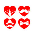 beautiful elements for cards with a mustache vector image vector image