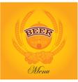 beer menu mug vector image vector image