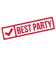 Best party stamp vector image vector image