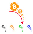 bitcoin deflation trend icon vector image