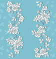 blooming white garden roses seamless pattern vector image vector image