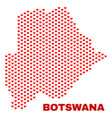 botswana map - mosaic of valentine hearts vector image vector image