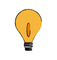 bulb light electricity creativity object icon vector image vector image