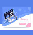 business strategy page design vector image vector image
