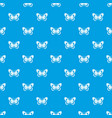 butterfly pattern seamless blue vector image vector image