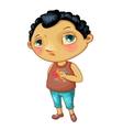 Character fashionable boy vector image