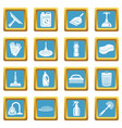 cleaning icons set sapphirine square vector image vector image