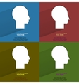 Color set Man silhouette profile picture Flat vector image