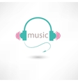 colored music headphones vector image vector image