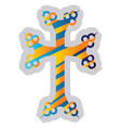colorful armenian cross on a white background vector image vector image