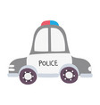 colorful emergency police car transport with siren vector image vector image