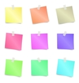 Colorful sticky note vector image