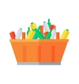Container with Garbage vector image vector image
