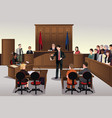 court scene vector image