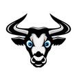 cute bull icon vector image