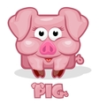 cute cartoon square pig vector image