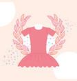 cute pink tutu ballet emblem vector image