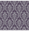 Damask seamless pattern in purple and gray