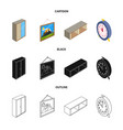 design of bedroom and room icon set of vector image vector image