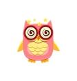 Dizzy Pink Owl vector image vector image
