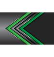 double green dark grey metallic arrow circle mesh vector image vector image