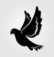 dove silhouette icon isolated on white vector image