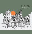 drawing sketch pena palace portugal vector image